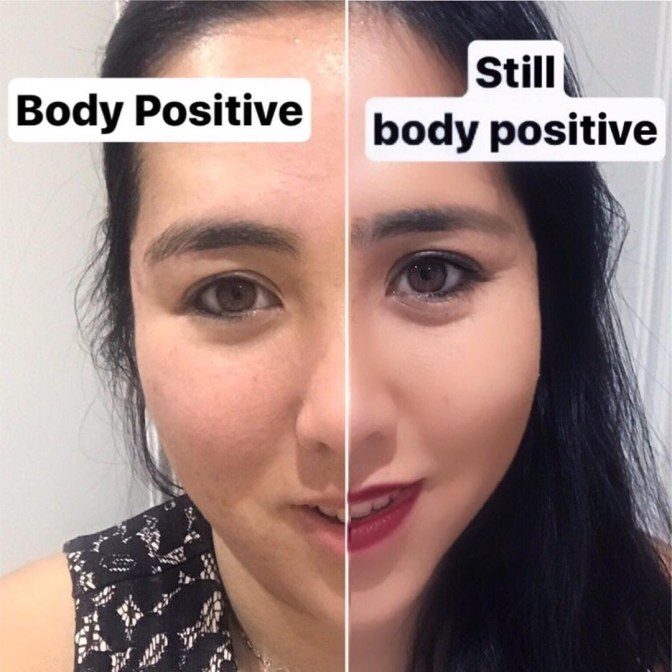 Body Positivity Activist Instagrams About Makeup-Shaming