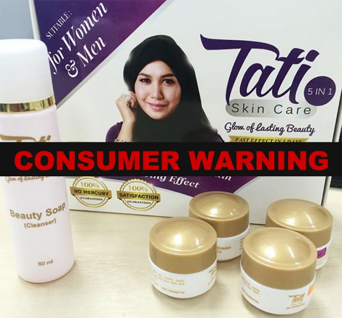Tati skincare products banned for mercury content 20,000 times over the limit