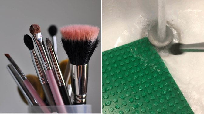 The Genius Way Redditors Are Using Legos To Wash Makeup Brushes