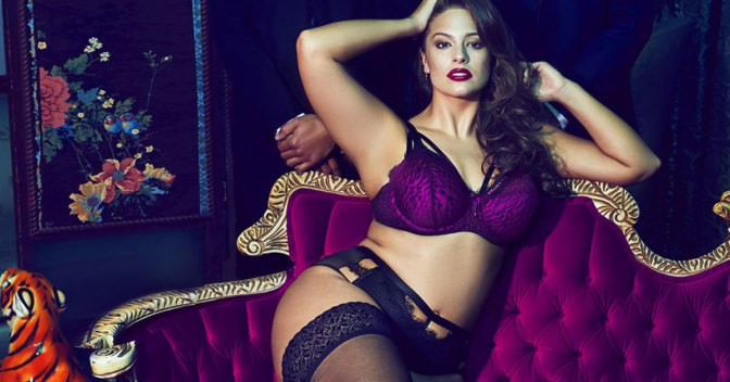 This New Ashley Graham Lingerie Line Is Purple Perfection