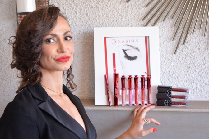 Karina Smirnoff Celebrates New Makeup Line