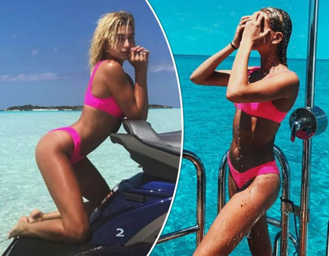 Hailey Baldwin Wore 2017's Sexiest Swimsuits, and She Has the Bikinigrams to Prove It