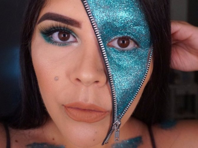 This mind-boggling glitter makeup trend is taking over the internet